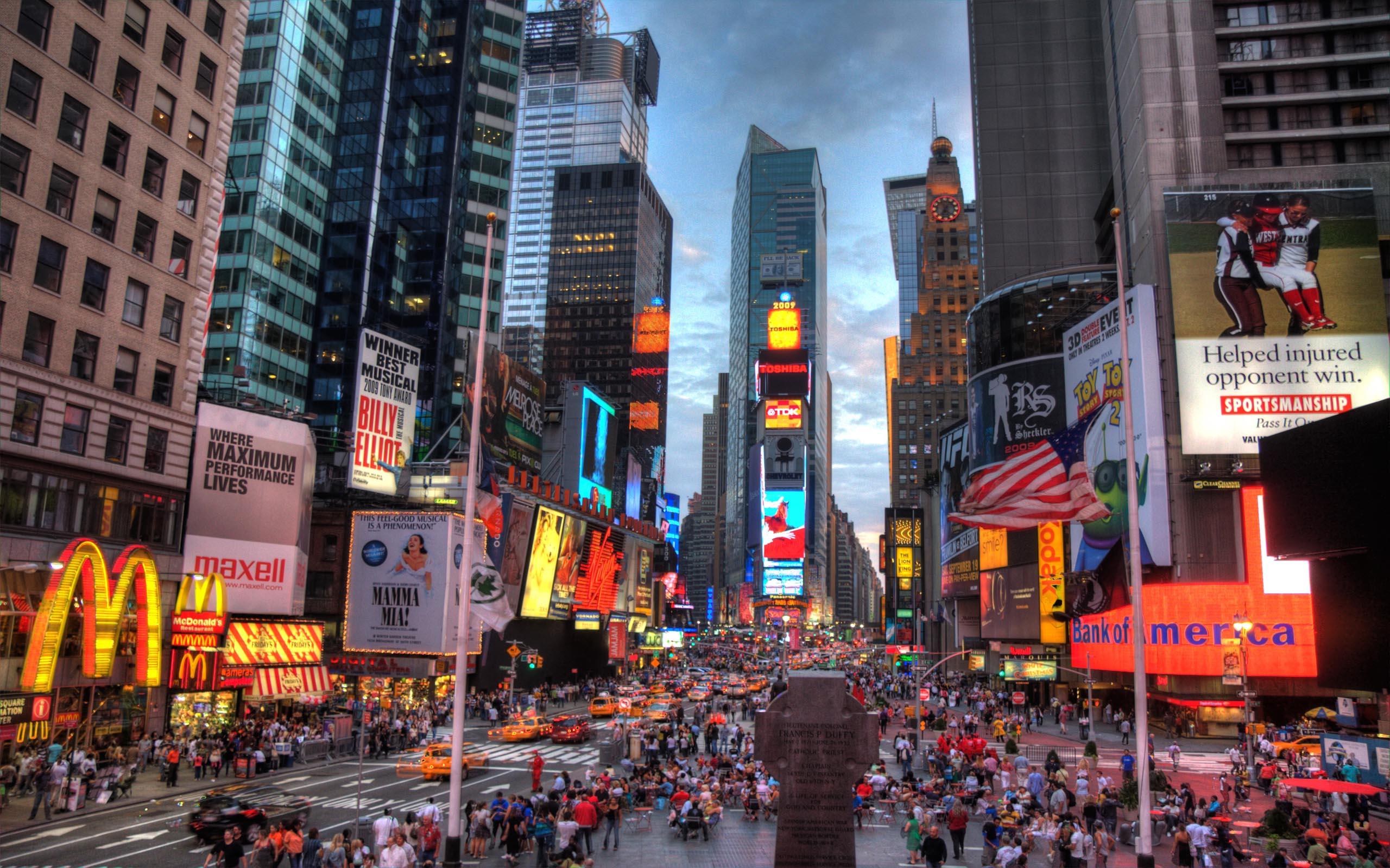 New York City Times Square Night United States New York la città dalle mille luci