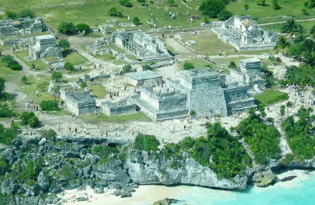Tulum aerial Messico dai Maya al mare caraibico